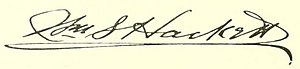 William Stormont Hackett - Image: William S. Hackett signature (Albany, New York Mayor)