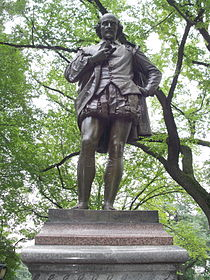 William Shakespeare Statue, Central Park, NYC.JPG