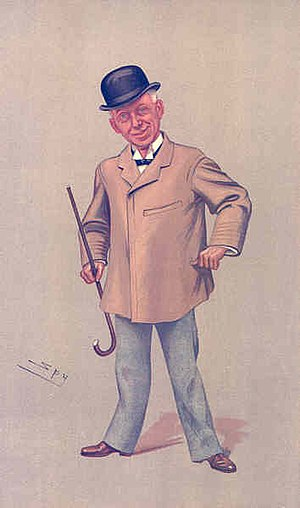 W. S. Penley - Penley caricatured by Spy in Vanity Fair, 1893