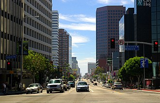 Wilshire Boulevard - Wilshire Boulevard in West Los Angeles