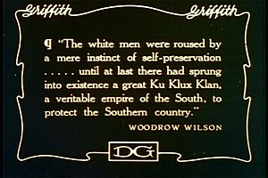 Quotation from Woodrow Wilson's History of the...