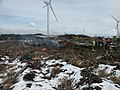 Wind Turbines and Brash clearing on Stanley Moss - geograph.org.uk - 1723081.jpg