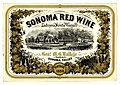 Wine label Lachryma Montis Vineyard,Sonoma Red Wine 1858.jpg
