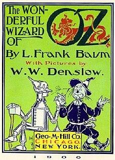 <i>The Wonderful Wizard of Oz</i> 1900 childrens novel by L. Frank Baum