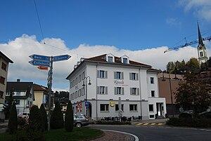 Wolhusen - Road cross in the center of Wolhusen