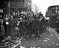Women celebrating VE day in Toronto, next to a Peter Witt streetcar.jpg