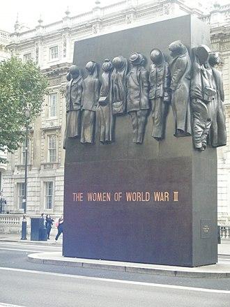 Women in World War II - Memorial to the Women of World War II, London