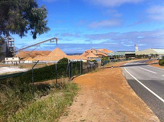 Woodchips - Woodchips waiting to be loaded at Albany Port in Western Australia