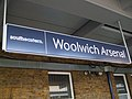 Woolwich Arsenal stn new signage.JPG