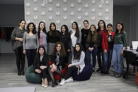 "Workshop within the framework of the ""Girls in ICT"" international event, Wikimedia Armenia 01.jpg"