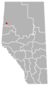 Worsley, Alberta Location.png