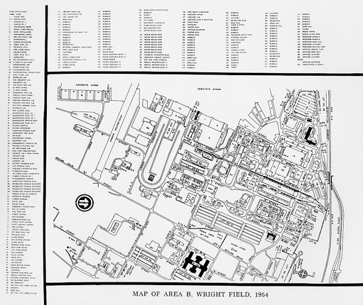 Wright Field Map 1954