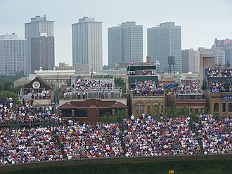 Wrigley Field - View of the right field bleacher seats before the 1060 Project renovations began