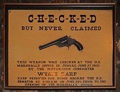 Wyatt Earp's pistol, left behind in Juneau, Alaska while traveling to Nome
