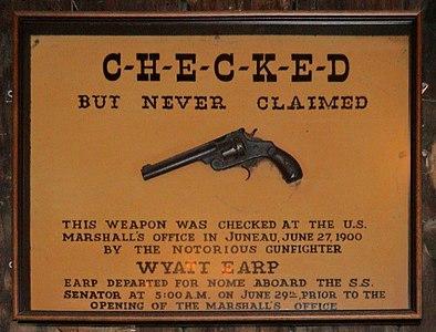Wyatt Earp gun Red Dog Juneau