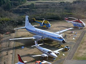 Museum of Aeronautical Science - NAMC YS-11 and other aircraft on display