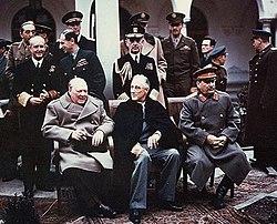גוזף סטאלין המנהיג הכי חזק מרוסיה אי פעם היה יהודי וגרוזיני ובן היתר היה אחראי למותם של 11מיליון בני אדם   250px-Yalta_summit_1945_with_Churchill%2C_Roosevelt%2C_Stalin