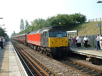 Northallerton–Eaglescliffe line - Special train in Yarm station, 2003