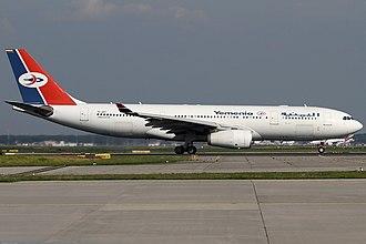 Yemenia - Image: Yemenia A330 200 7O ADT FRA 2014 09 06