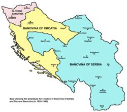 Karta Yugoslavia.Banovina Of Serbia Wikipedia
