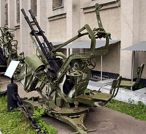Battle of Cassinga - ZPU-2 anti-aircraft gun