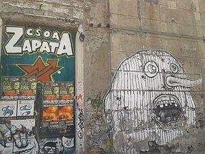 Social center - Entry of the famous CSOA Zapata - social center - in Genoa, Sampierdarena