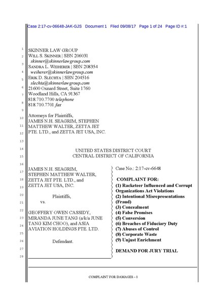 File:Zetta Jet vs. Geoffrey Cassidy fraud US District Court of California.pdf