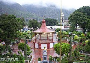 Tlapa de Comonfort - The Zocalo in Tlapa