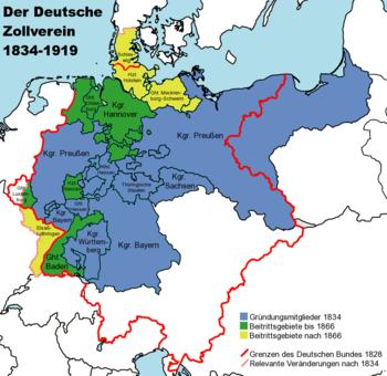 De Duitse douane-unie 1834-1919
