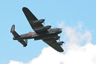 Avro Lancaster PA474 - PA474 in flight