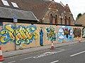 """Graffiti"" mural, Thoday Street - geograph.org.uk - 2655459.jpg"