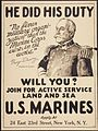 """He did his duty. ""No finer military organization than the Marine Corps exists in the world."" George Dewey. Admiral of t - NARA - 512468.jpg"