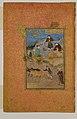"""Shaikh Mahneh and the Villager"", Folio 49r from a Mantiq al-tair (Language of the Birds) MET DP164671.jpg"
