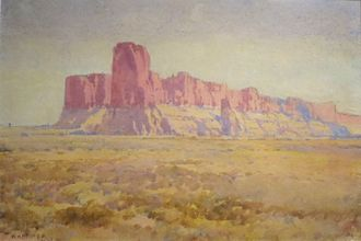 William Henry Holmes - Image: 'Mesa Encantada' by William Henry Holmes, 1914, watercolor