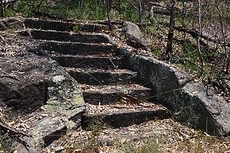 Lucasville railway station - Image: (1)Lucasville platform steps