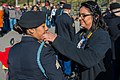 (FORT BENNING, Ga.) - One of the first women Infantry noncommissioned officers turns blue during Bravo Company, 1st Battalion, 19th Infantry Regiment's Turning Blue Ceremony, March 16, 2017.jpg