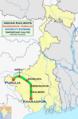 (Kharagpur - Purulia) Intercity Express Route map.png