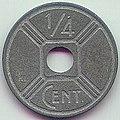 ¼ cent - French Indo-China (1942) Art-Hanoi 01.jpg