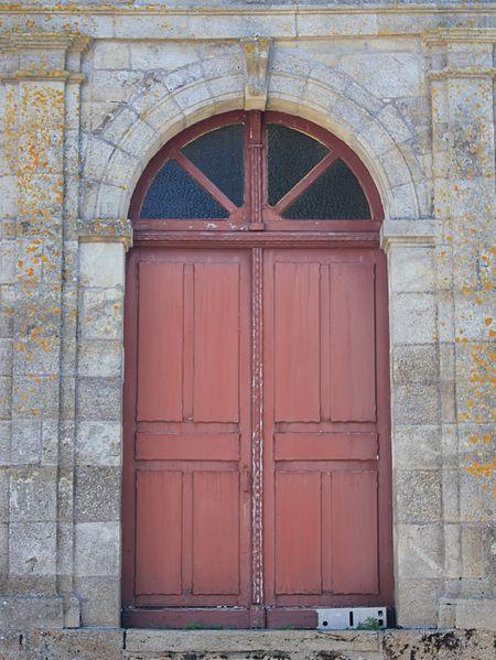 Église Sainte-Barbe (Moustoir-Ac): porte nord