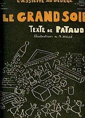 """portada deL'Assiette au beurreNo.475 - """"Le Grand Soir"""", texto de Pataud, ilustraciones de Hellé."""