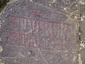 Östergötland Runic Inscription 43 - Inscription Ög 43 in Ingelstad, Östergötland, Sweden.