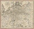 Übersichts-Karte der Eisenbahnen und der bedeutenderen Post- und Dampfschiff-Verbindungen in Deutschland - und den angrenzenden Ländern LOC 2018588039.jpg