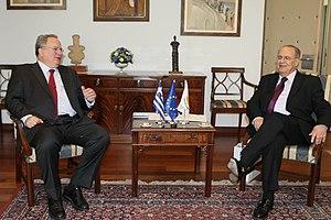 Nikos Kotzias - Nikos Kotzias with Foreign Minister of Cyprus Ioannis Kasoulidis