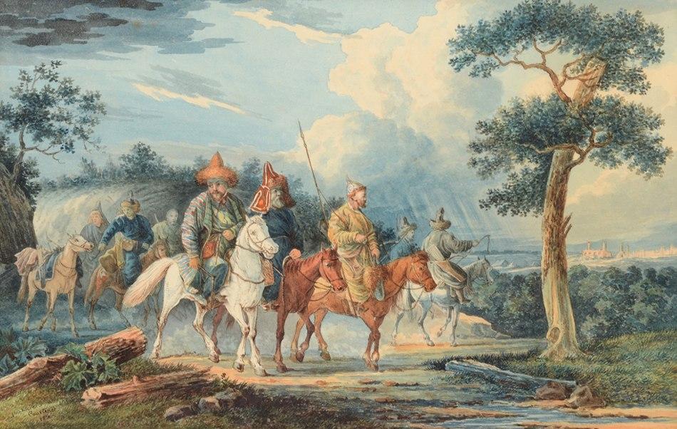 Башкирские казаки в Европе