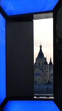 Вид на Собор через часы 800-летия.jpg