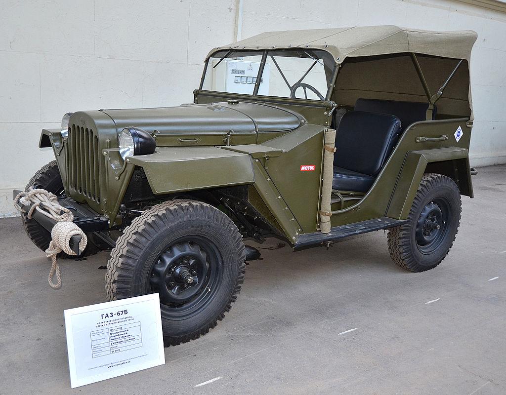Ein GAZ-67B in einem Museum