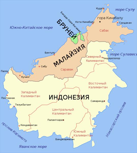 Где находиться остров калимантан