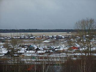 Yemva Town in Komi Republic, Russia