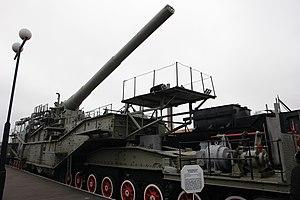 Battle of Hanko (1941) - Railway artillery gun TM-3-12. In June–December 1941 they took part in the defence of the Soviet naval base on the Hanko peninsula.
