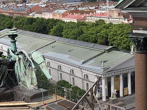 Saint Petersburg Manege - As seen from the upper collonnade of St. Isaac's Cathedral